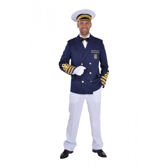 Blauwe kapiteins kleding