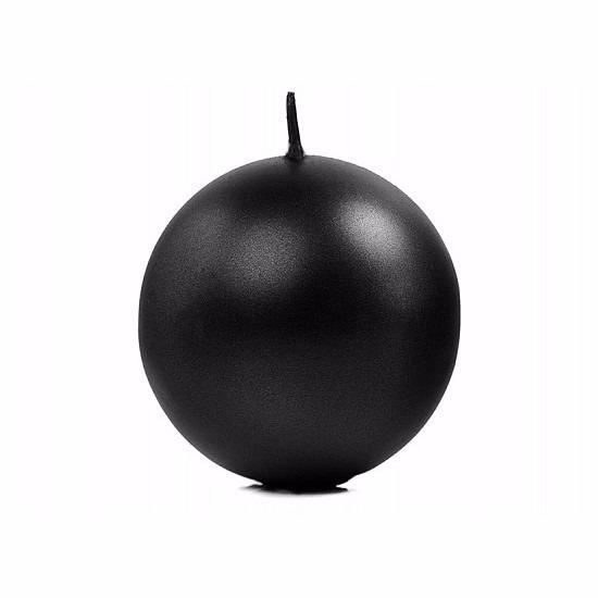 Woonaccessoires Bolkaars metallic zwart 8 cm