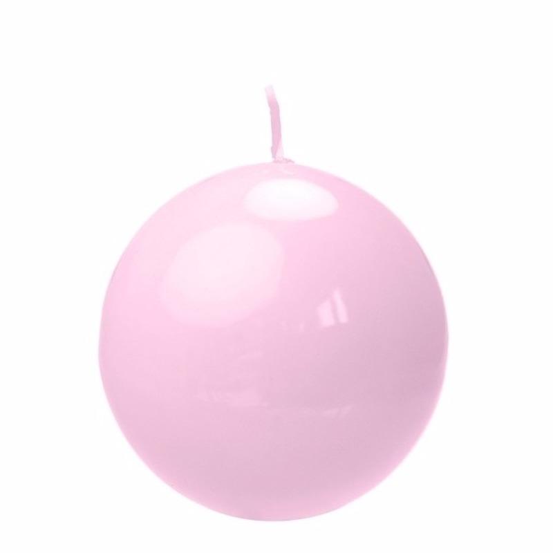 Woonaccessoires Geen Bolkaars roze 8 cm