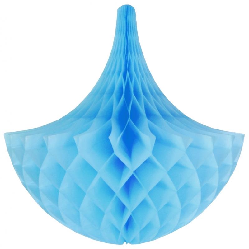 Kleuren versiering Brandvertragende deco kroonluchter lichtblauw 45 cm