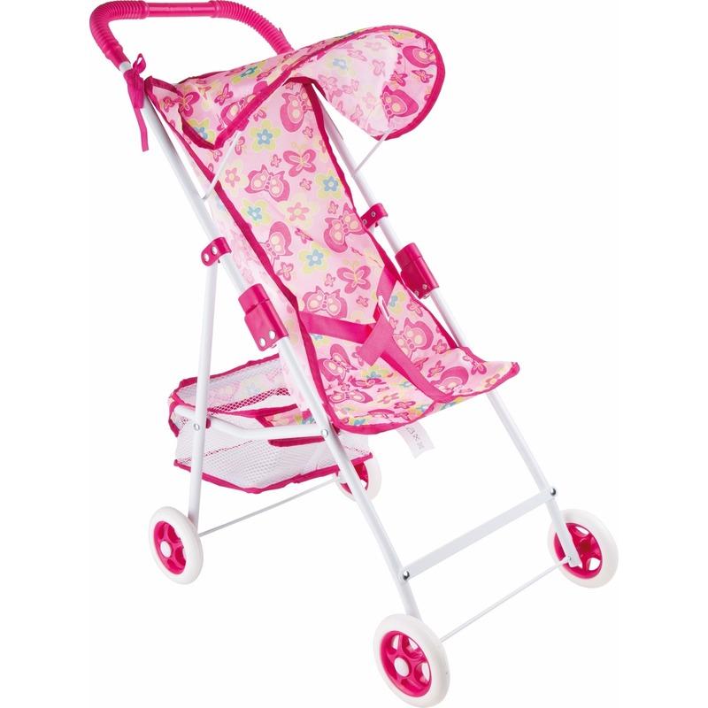 Buggy met vlinders voor speelgoed poppen