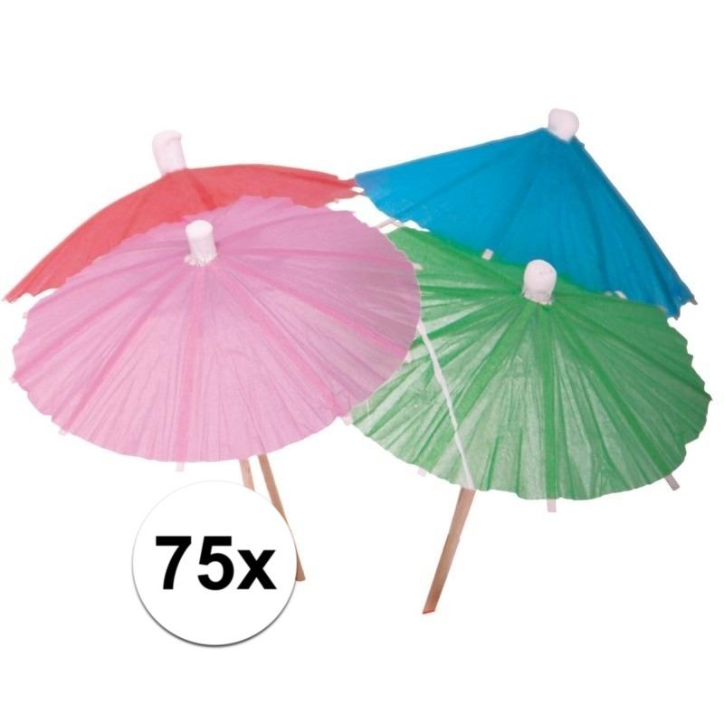 Geen Cocktail parasols 75 stuks Feestartikelen diversen