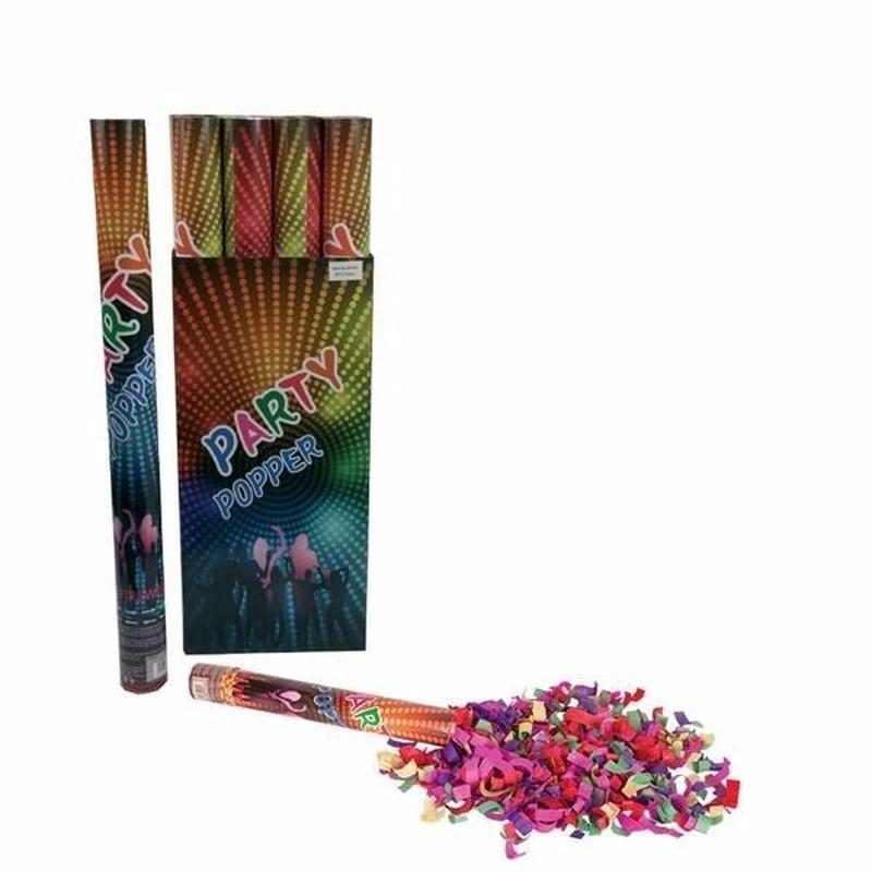 Geen Confetti shooters multi color 60 cm Feestartikelen diversen