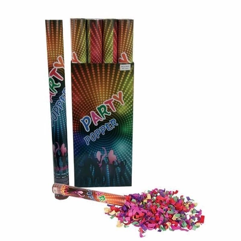 Feestartikelen diversen Geen Confetti shooters multi color 80 cm
