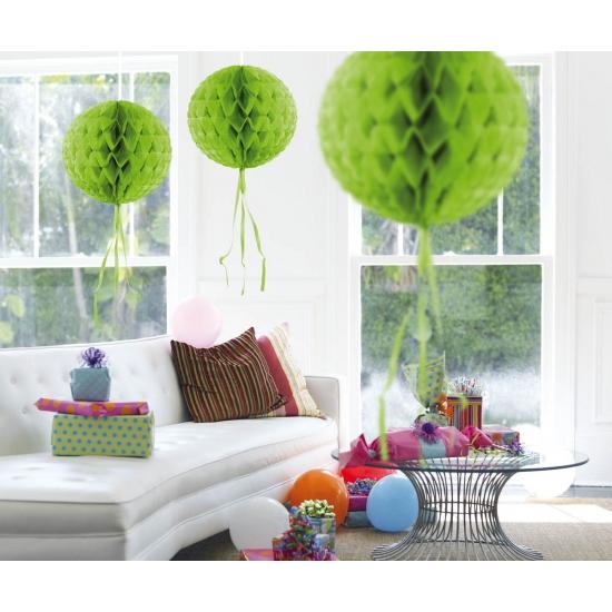 Kleuren versiering Geen Decoratie bol lime groen 30 cm