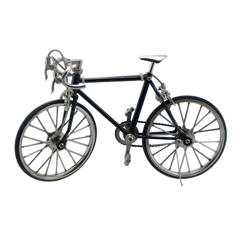 Decoratie fiets van metaal 20 cm