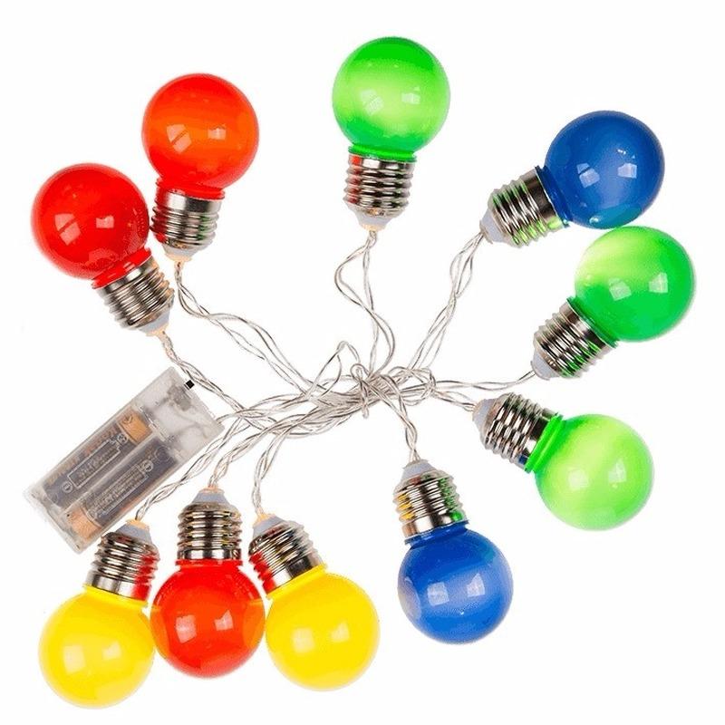 Geen Decoratie LED verlichting gekleurde peertjes bundel Feestverlichting
