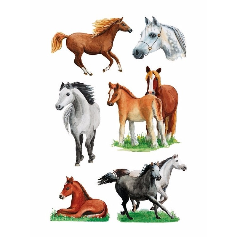 Decoratie paarden stickers 3x