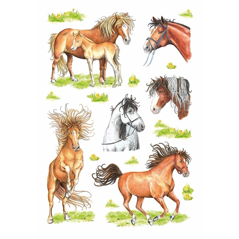 Decoratie paarden stickers
