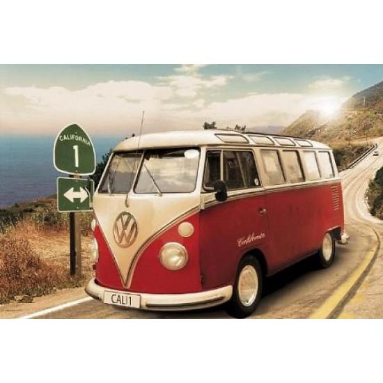 Decoratie poster VW campers Californie