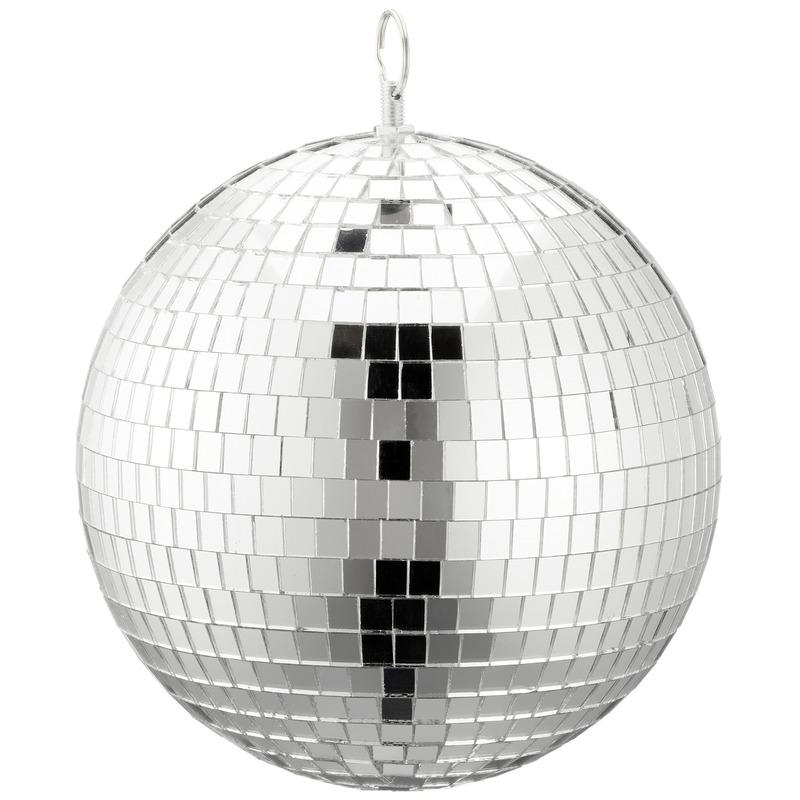 Feestverlichting Disco spiegel bal zilver 20 cm