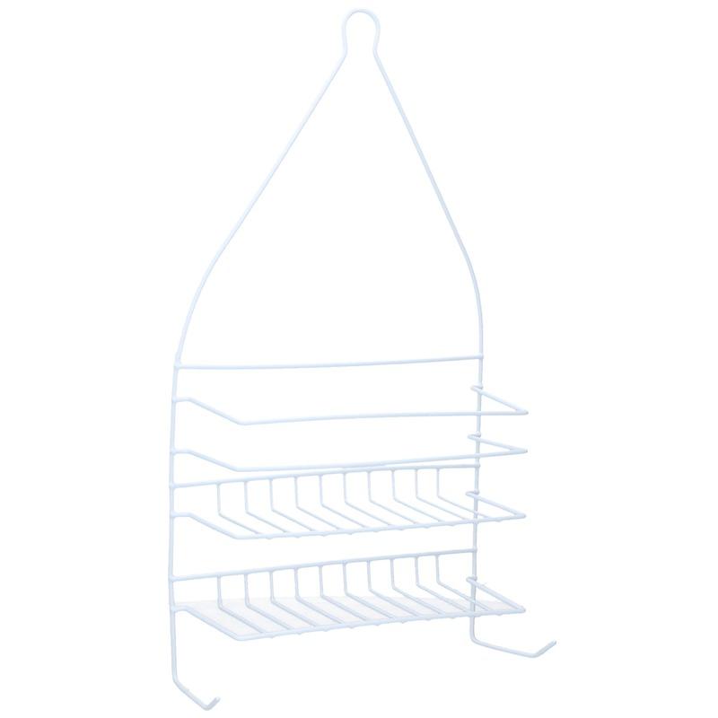 Doucherek-badkamerrek metaal wit 2 laags 46 cm