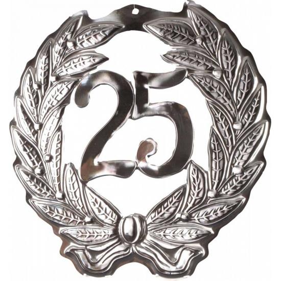 Feest decoratie krans van 25 jaar