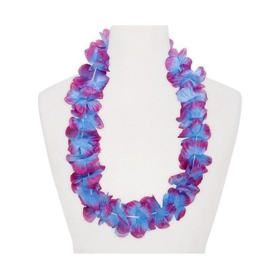 Hawaii feestartikelen Geen Feestartikelen hawaii bloemen krans paars blauw