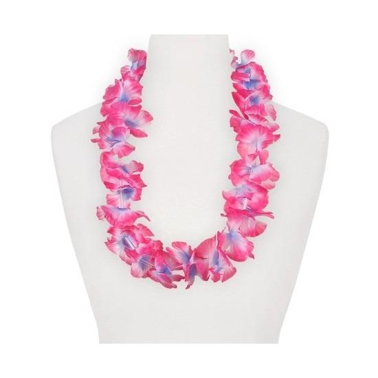Geen Feestartikelen hawaii bloemen krans roze paars Hawaii feestartikelen