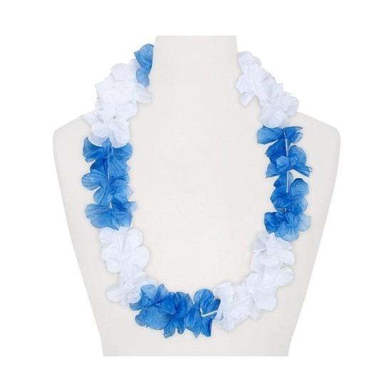 Hawaii feestartikelen Geen Feestartikelen hawaii bloemen krans wit blauw