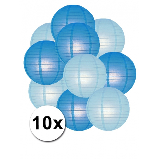 €1500000 Goedkoper Shoppartners Feestartikelen lampionnen blauw lichtblauw10x