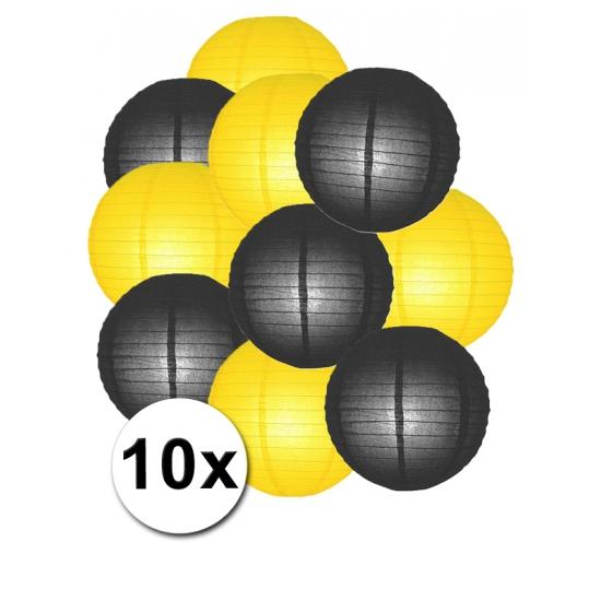 Feestartikelen lampionnen zwart gele10x Shoppartners Feestartikelen diversen