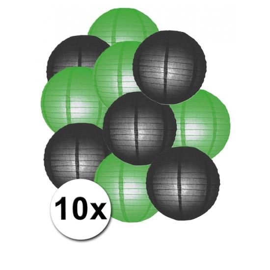 extra goedkoop 6% Korting Feestartikelen lampionnen zwart groen10x