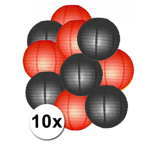 Weggeefactie 6% Korting Feestartikelen lampionnen zwart rode10x