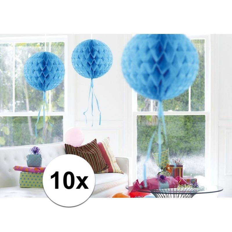 Geen Feestversiering blauwe decoratie bollen 30 cm set van 3 Kleuren versiering
