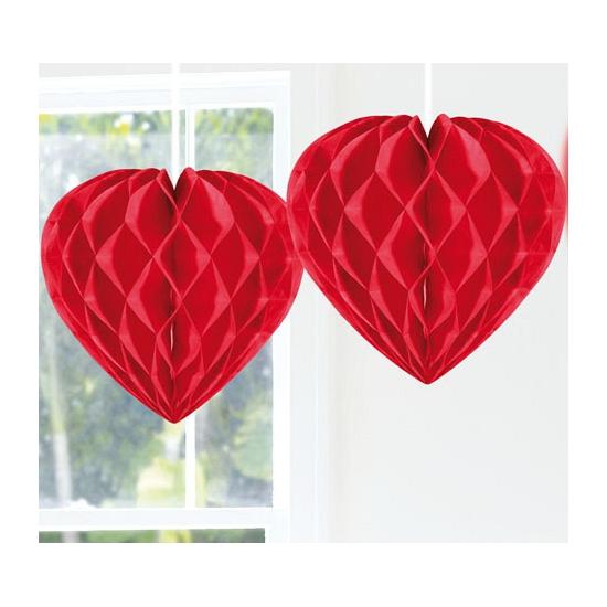 Valentijn feestartikelen Feestversiering decoratie hart rood 30 cm