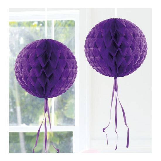 Kleuren versiering Feestversiering paarse decoratie bol 30 cm