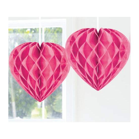 Geen Feestversiering roze decoratie hart 30 cm Kleuren versiering