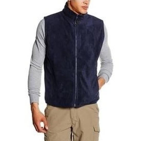 Fleece bodywarmer navy blauw voor volwassenen