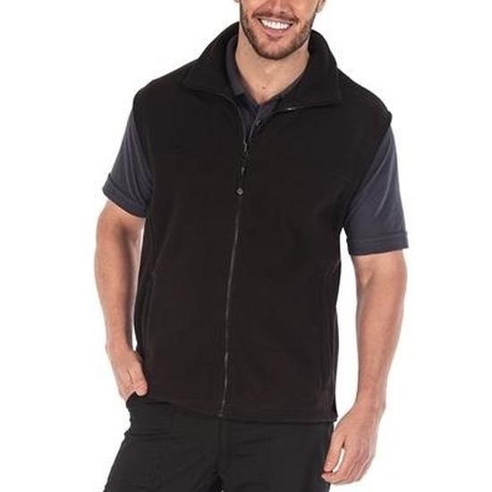 Fleece bodywarmer zwart voor volwassenen