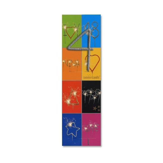 Gebak decoratie sterretjes cijfer 4