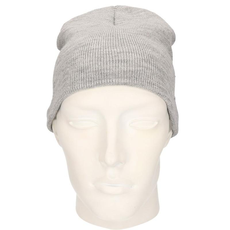 Gebreide wintermutsen grijs voor vrouwen