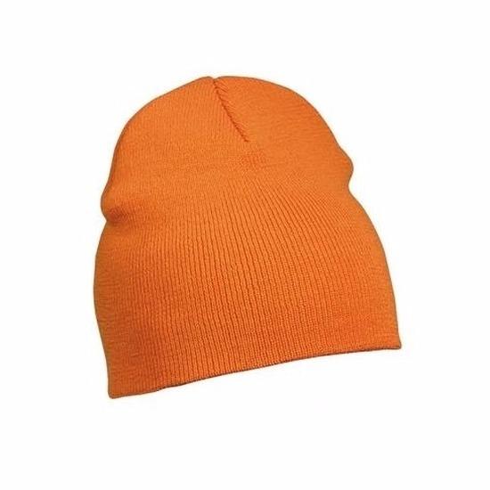 Gebreide wintermutsen oranje voor vrouwen