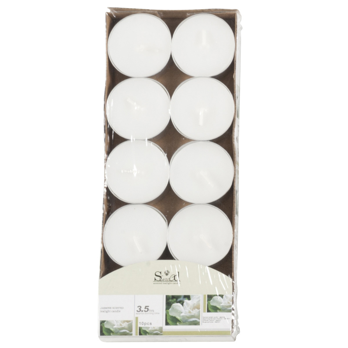 Woonaccessoires Geen Geur theelichtjes jasmijn wit 10 stuks