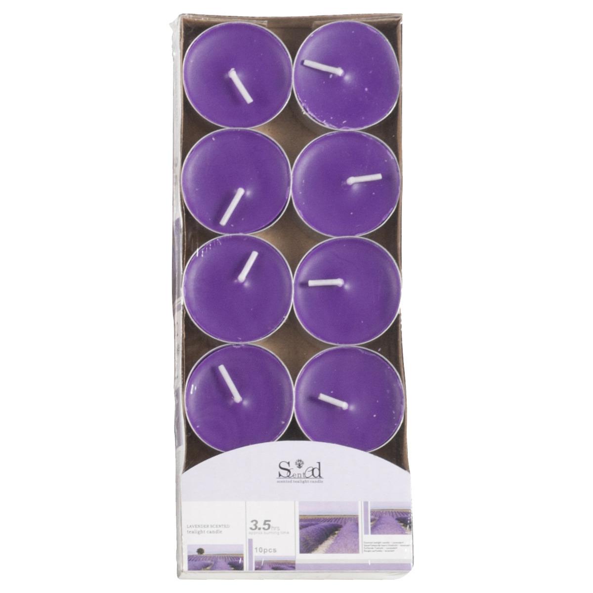 Geur theelichtjes lavendel paars 10 stuks Geen voordeligste prijs