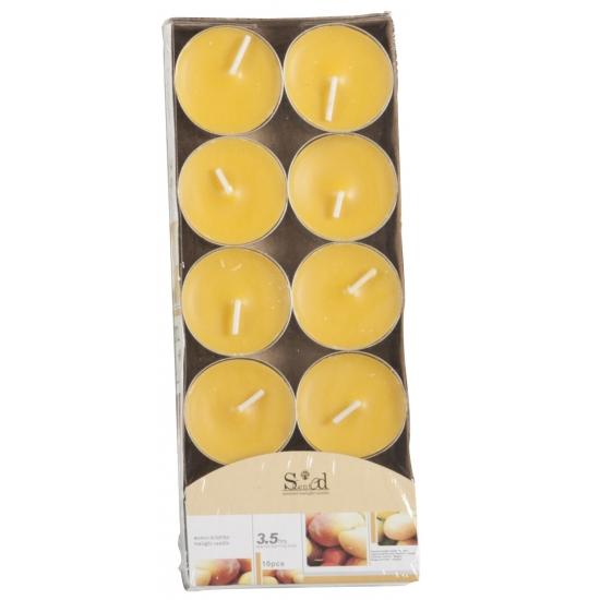 Woonaccessoires Geen Geur theelichtjes mango geel 10 stuks