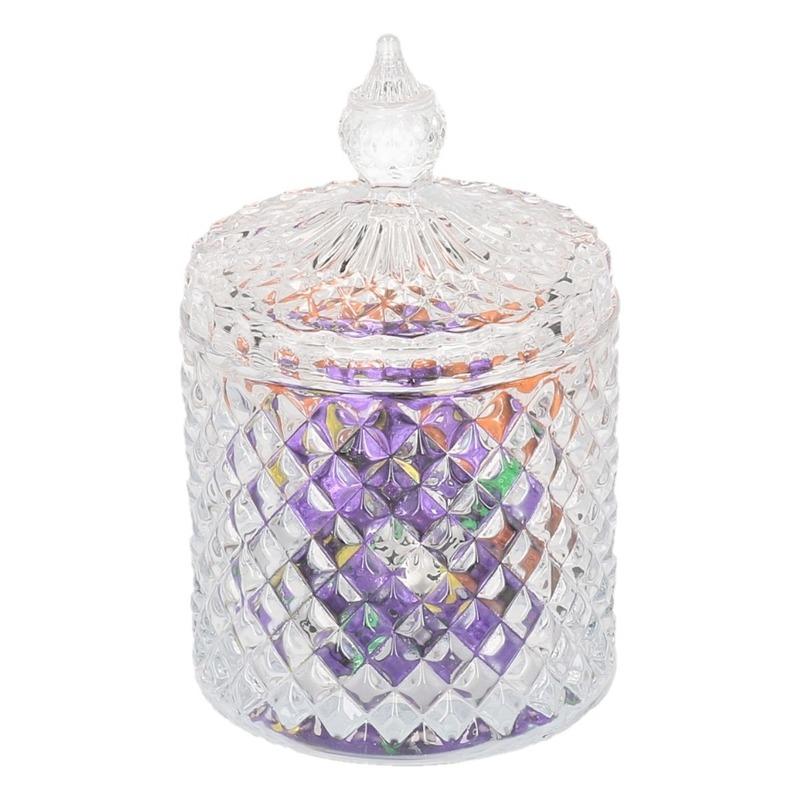 Glazen bonbonniere-pot voor paaseieren 19,5 cm