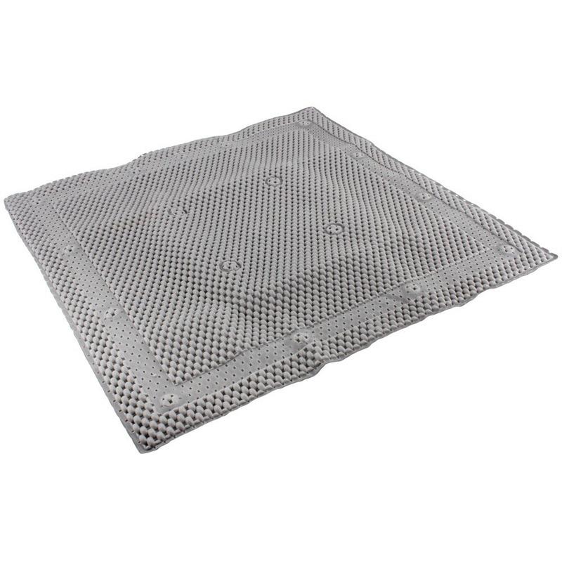 Grijze antislip mat voor douchekabine 52 cm