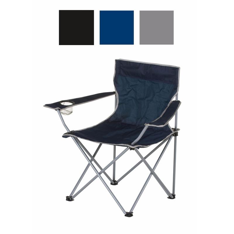Grijze opvouwbare campingstoel