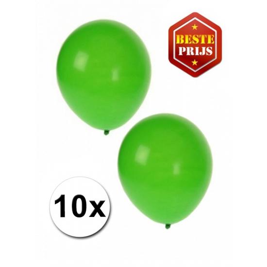 Groene decoratie ballonnen 10 stuks