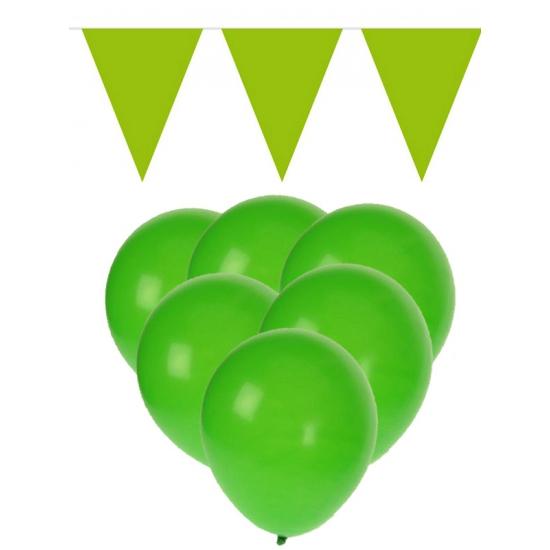 Groene versiering decoratie pakket