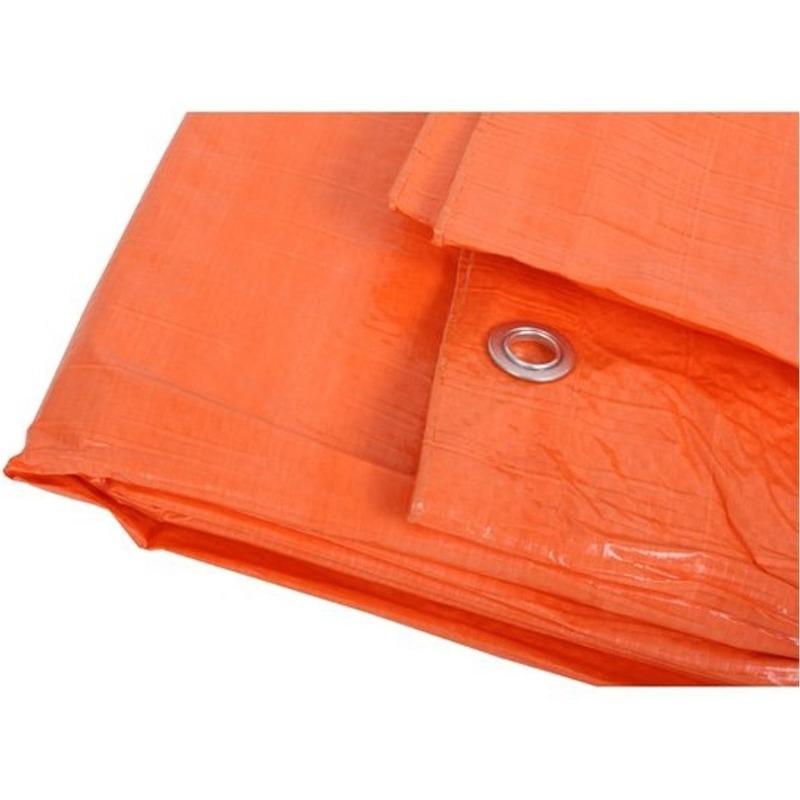 Grote oranje dekzeil van 8x12 meter