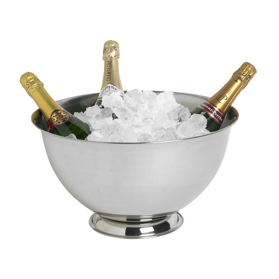 Grote RVS champagne emmer op voet