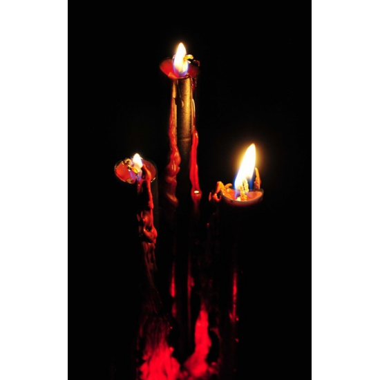 Halloween decoratie kaars met bloed