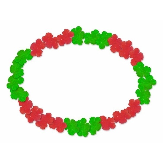Hawaii slingers rood en groen Geen Goedkoop