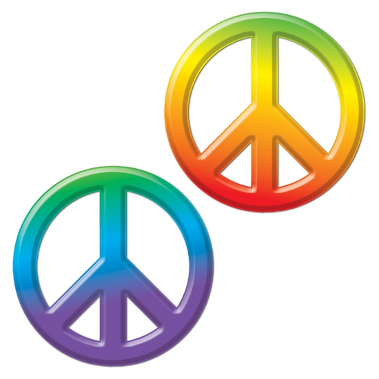 Hippie thema decoratie peace