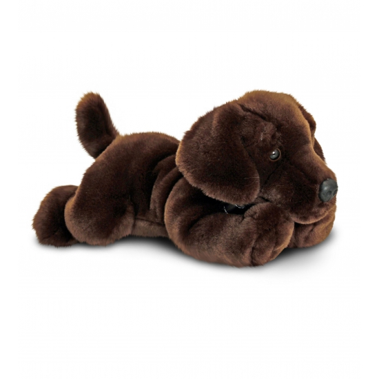 Honden knuffel labrador puppy bruin 30 cm