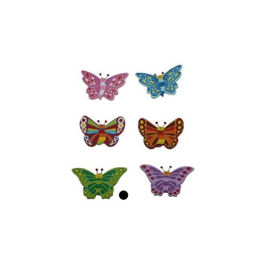 Houten decoratie vlinder groen