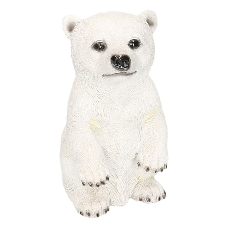 IJsbeer beeldje wit type 1 19 cm