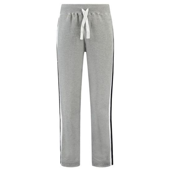 Joggingbroek-sportbroek grijs met streep voor dames